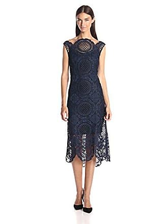 Tracy Reese Womens Back Surplice Dress, Navy, 6