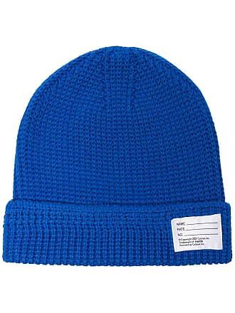 Visvim Gorro de tricô com logo - Azul