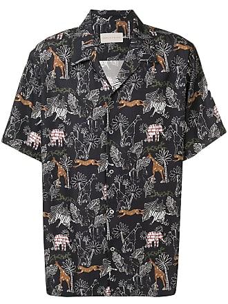 Paura Camisa com estampa gráfica - Preto
