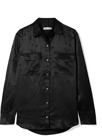 Equipment + Tabitha Simmons Signature Printed Satin Shirt - Black