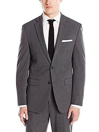 Van Heusen Mens Slim Fit Flex Stretch Suit Separate Blazer (Blazer and Pant), Grey Solid, 40 Regular