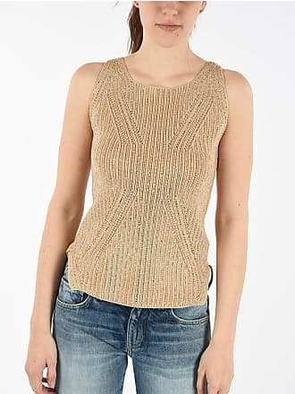 Ermanno Scervino Sleeveless Sweater with Jewel Applications size 42