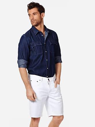 Vilebrequin Men Ready to Wear - Men White 5-Pocket Denim Bermuda Shorts - BERMUDA - GARONNE - White - 36 - Vilebrequin