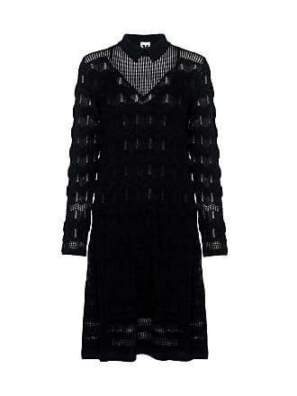 M Missoni Sheer Zigzag Knit Dress Black