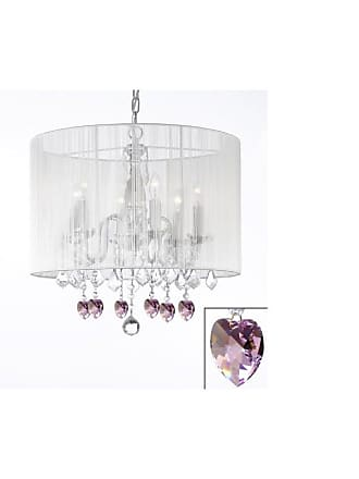 Gallery T40-301 6 Light 1 Tier Crystal Candle Style Chandelier with