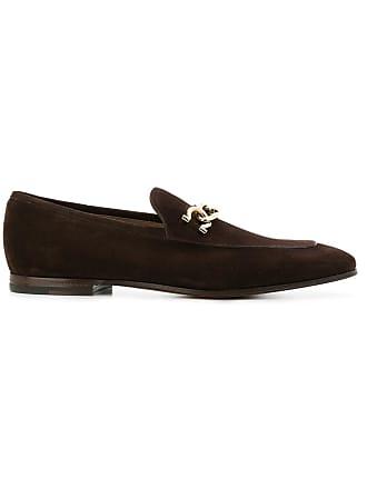 Salvatore Ferragamo chain loafers - Brown