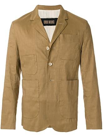 Uma Wang classic fitted blazer - Brown