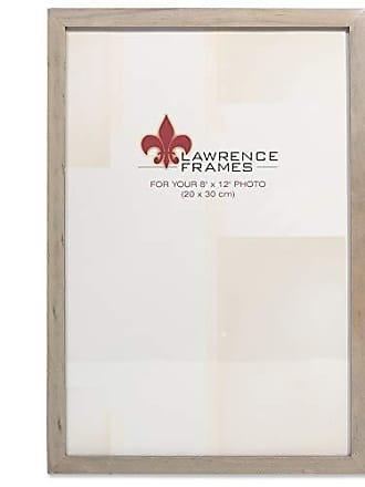 Lawrence Frames 8x12 Gray Wood Gallery Collection Picture Frame