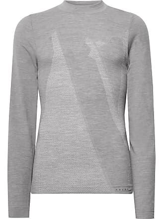 Falke Ergonomic Sport System Stretch Virgin Wool-blend Base Layer - Gray