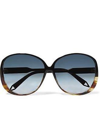 e8c587dd641 Victoria Beckham Victoria Beckham Woman Round-frame Tortoiseshell Acetate  And Gold-tone Sunglasses Black. -55%. In high demand