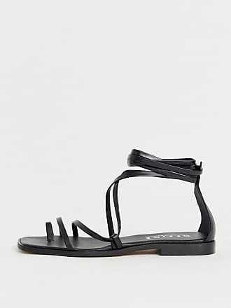 bc89b6890 Office Seaweed black leather barely there sqaure toe loop sandals