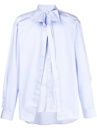 Y / Project Camisa com sobreposição - Azul