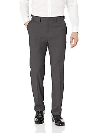 Haggar Mens Texture Weave Stretch Classic Fit Suit Separate Pant, Dark Heather Grey 2, 33Wx30L