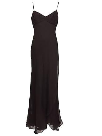 adf8af48bc6 J. Mendel Paris Chocolate Brown Silk Chiffon Bias Cut Evening Dress 8