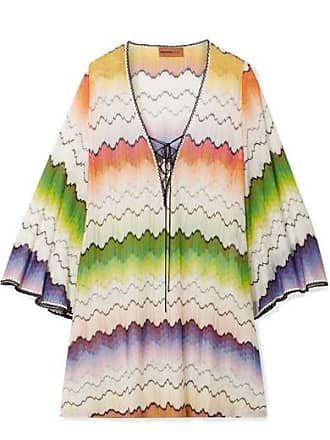 88079a1803775 Missoni Mare Lace-up Crochet-knit Kaftan - White