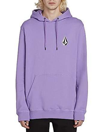 fbdd09f5b Volcom Mens Deadly Stones Hooded Pullover Sweatshirt, Lavender Small