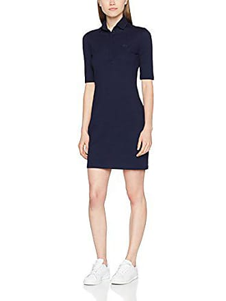1cc75ef2724 Lacoste EF3055-Vestido Mujer Azul (Marine 166) 38 (Talla del Fabricante