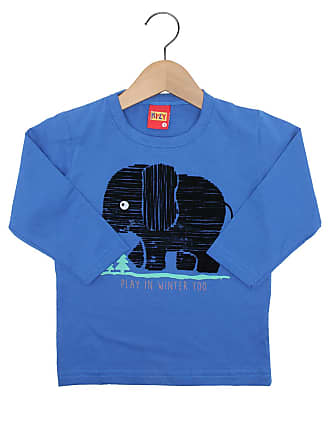060d1ac6e5 KYLY Camiseta Kyly Manga Longa Menino Azul