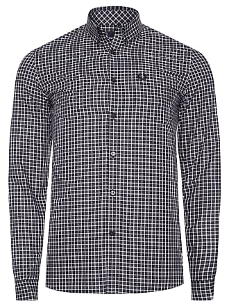 Fred Perry CAMISA MASCULINA THREE COLOUR GINGHAM - PRETO