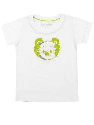 Tigor T. Tigre Camiseta Tigor T. Tigre Manga Curta Bebê Menina Branca