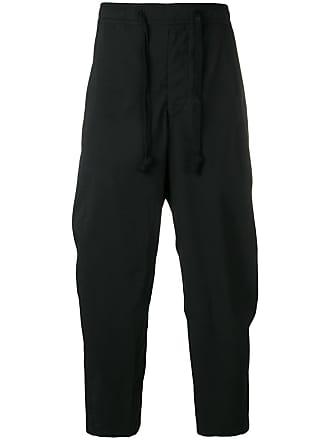 Ziggy Chen cropped drop crotch trousers - Black