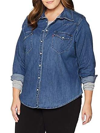 42d89fdadbc Levi's Plus PL Western Camicia, Blu (Lotta Love 0006), XXX-Large