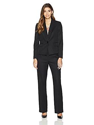 314a076170e7d Le Suit Womens Petite Pinstripe 1 Button Shawl Collar Pant Suit with Cami