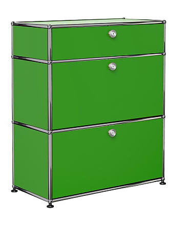 USM Haller Kommode mit Schublade - USM grün/BxHxT 77,3x91,5x37,3