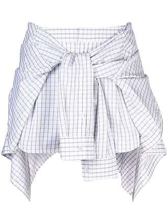 Alexander Wang poplin tie waist skort - Branco
