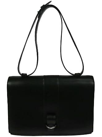 f47908907b2e Hermès Hermes Vintage Black Leather Top Handle Satchel Flap Shoulder Bag
