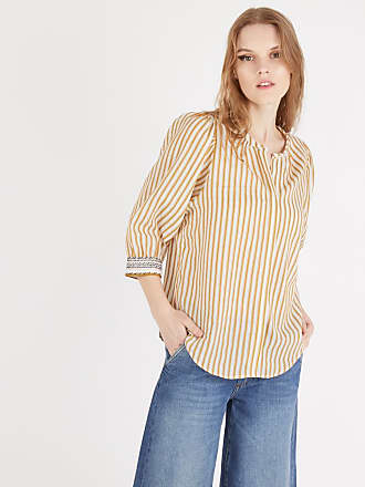 92452ed3482 Sessun Blouse ample Song for You coton Jaune Sessun
