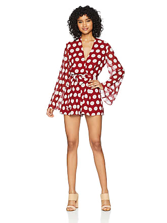 8901b2f3a1 C Meo Collective Womens Unending Long Sleeve V Neck Playsuit Rompers