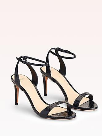Alexandre Birman Willow 75 Exotic Sandal - 35.5 Black Naja Snake Leather
