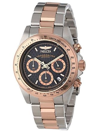 Zales Mens Invicta Speedway Chronograph Two-Tone Watch with Black Dial (Model: 6932)