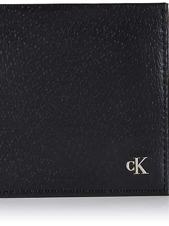 Calvin Klein Ckj Monogram Texture Bifold W/c, Mens Wallet, Black, 1x1x1 cm (W x H L)