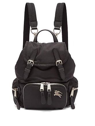 Burberry Small Logo Plaque Backpack - Womens - Black