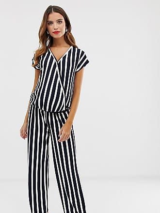 42444fa4ed442 Mama Licious Mamalicious maternity stripe wrap jumpsuit - Multi