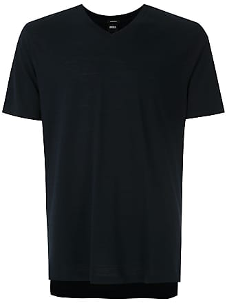 HUGO BOSS T-shirt regular fit decote V - Azul