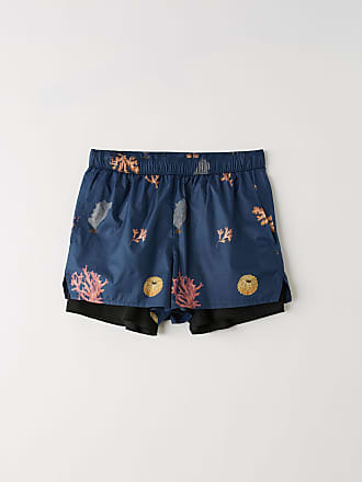 Acne Studios FN-MN-SWIM000003 Dark Blue - Coral Print Printed swim trunks