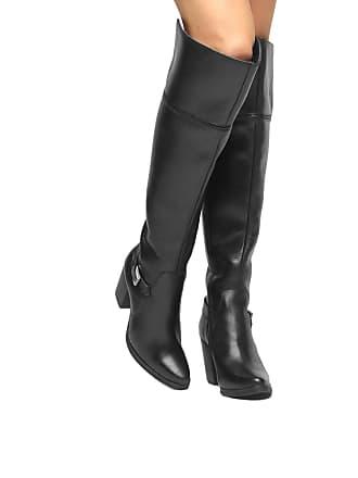 b0a3bc578 Shoestock Bota Couro Over the Knee Shoestock Fivela Feminina - Feminino