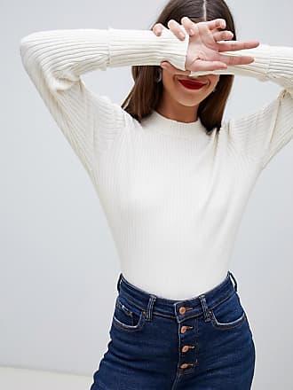Vero Moda Aware Ribbed Funnel Neck Sweater - Cream
