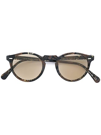 08842f286b Oliver Peoples Gregory Peck round frame sunglasses - Brown
