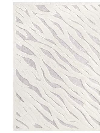 ModWay R-1155A-810 Current Shag Area Rug, 8X10, Ivory and Light Gray