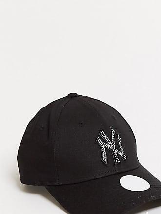 New Era Exklusive 9Forty-Cap in Schwarz mit NY-Buchstaben aus Strass