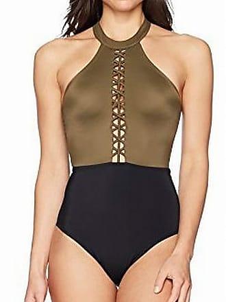 Coastal Blue Women/'s Swimwear Knotted One Shoulder Bikini Top Navy XL