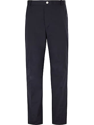 Thom Browne Navy Stripe-trimmed Canvas Trousers - Navy