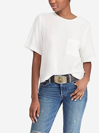 fe6ac10fd85 Polo Ralph Lauren T-shirt à manches courtes poche soie Blanc Polo Ralph  Lauren