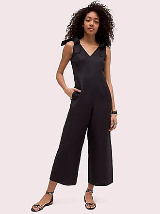 Kate Spade New York Linen Tie Jumpsuit, Black - Size 14