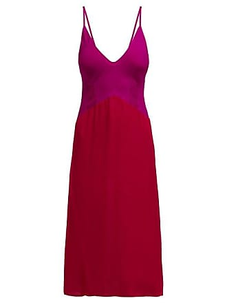 Araks Cadel Pintuck Silk Crepe De Chine Slip Dress - Womens - Red Multi