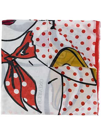 Ermanno Scervino all-over print scarf - White